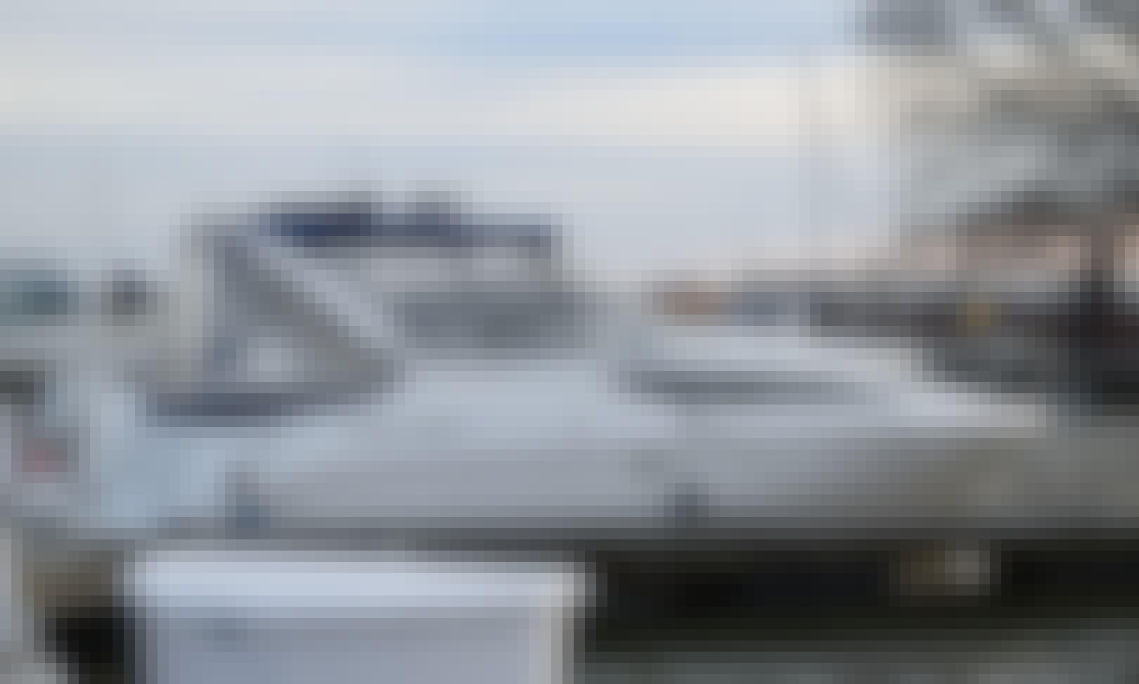 Comfortable cabin cruiser on the Potomac River in Washington, D.C.