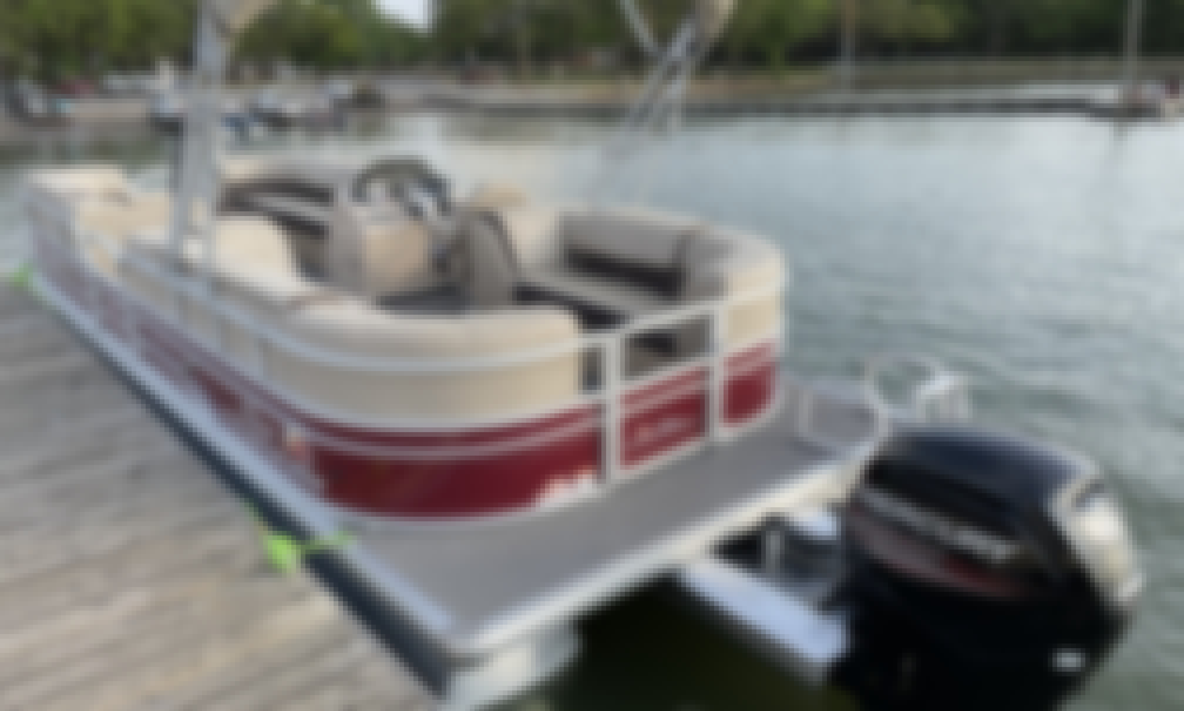 Sun Tracker 24 Pontoon boat for rent on Lake Arlington