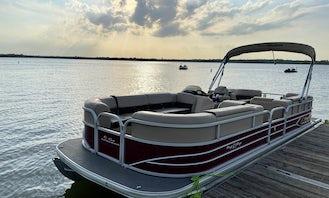 2018 Sun Tracker Party Barge 24 DLX Pontoon Boat   Joe Pool Lake  