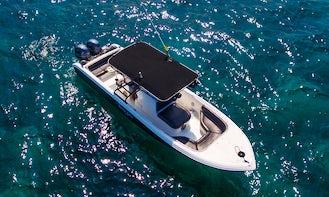 Enjoy the amazing islas of Rosario in Cartagena, rental Boat 30ft 14 people