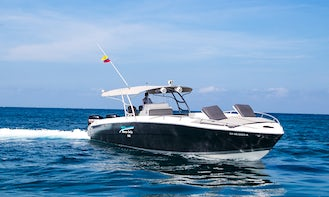 Private boat 42ft Firpol for all day fun in Cartagena water!