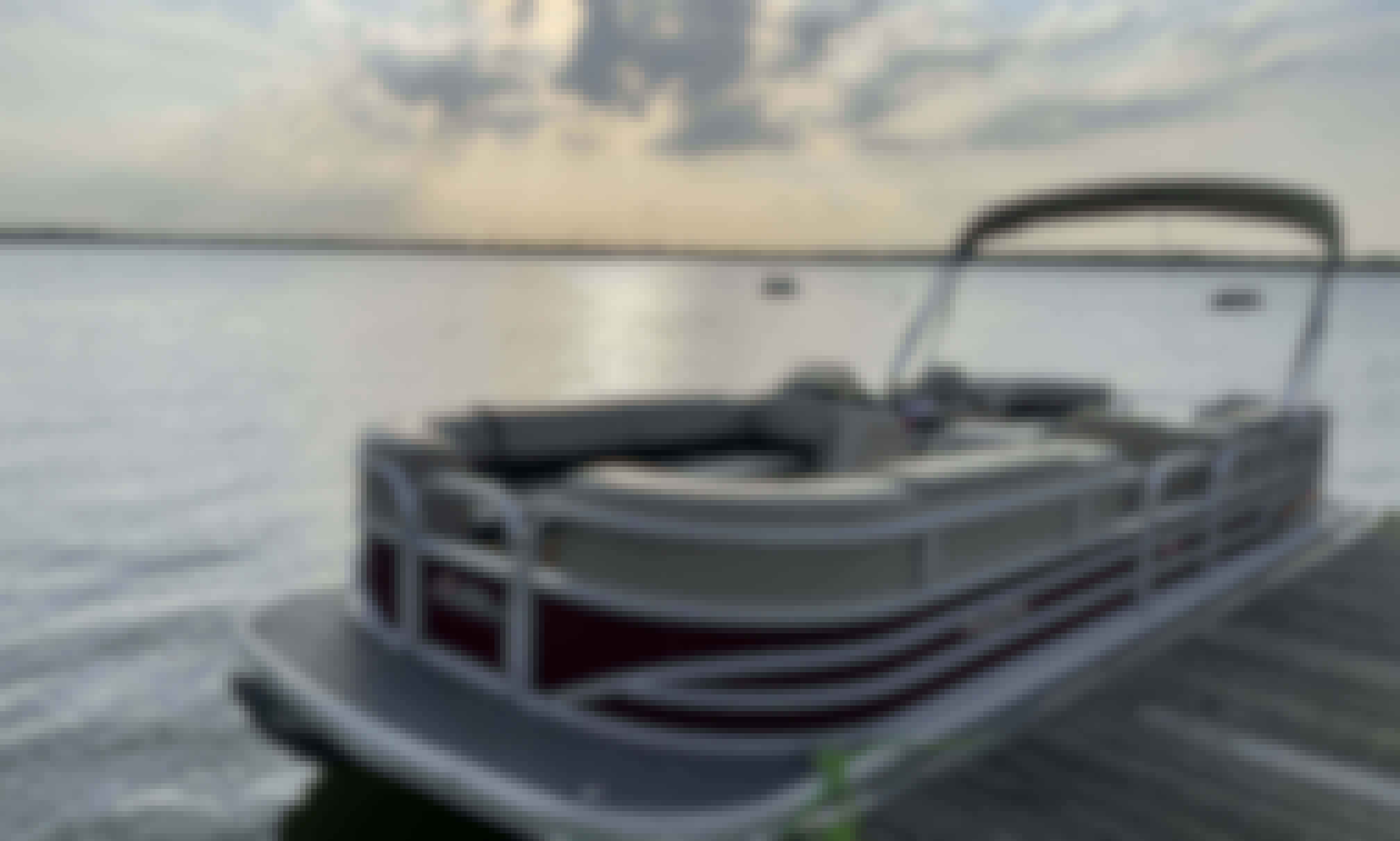 Sun Tracker 24' Pontoon Boat for Rent on Lake Bridgeport