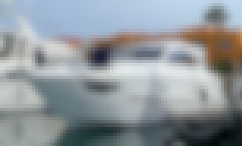Luxury yacht in Portimão