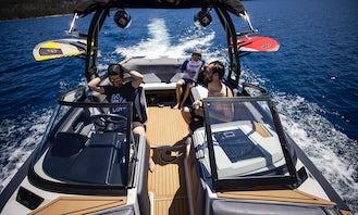 Brand New 2021 WakeSurf Boat holds 17 People on Lake Tahoe  WakeBoard and Tube