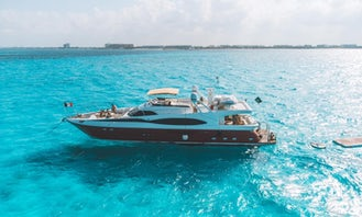 Dyna Craft 80' Power Mega Yacht with Jacuzzi and Jet Ski  with pick up in Riviera Maya
