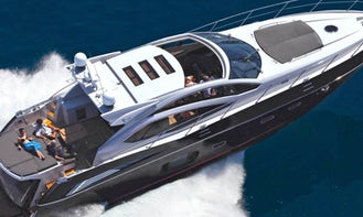 Sunseeker 62 Predator Luxury Yacht in Cancún, 4 hours min rental