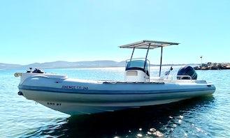 RIB ST650 22' Powerboat Adventure Tour on Paros
