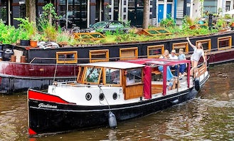 Private 2 hour or more Canal Boat Tour in Amsterdam