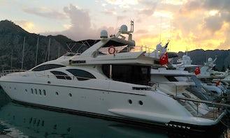 Azimut 98 Leonardo Luxury Daily and Weekly Tours in Turkish Riviera