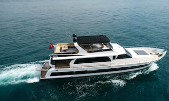 Experience Luxury Yachting in Muğla with 10 people motor yacht!