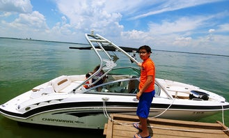 Chapparal 224 8 person boat with Captain on Lake Ray Hubbard