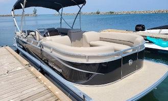 Legend 23ft Pontoon for rent at Jordan Harbour Marina (MON -THURS ONLY)