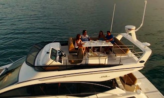 2019 45' Sea Ray Fly Bridge Motor Yacht Charter available in Atlantic Highlands, New Jersey