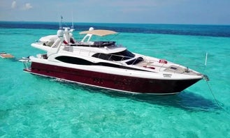 SEDUCTIVE LUXURY 84 ft Mega Yacht in Cancun  w jacuzzy up to 18* guests min 6 hours rental