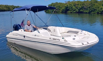 19ft Sundeck Powerboat for Rent in Saint James City