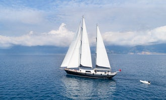MOSS  This wonderful luxury gulet sailing at the coasts of aegean and Mediterranean is 41 meters long and for 9 people