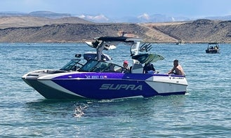 23' Supra SL 575 Purple WakeSurf Machine!!