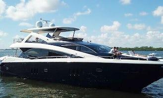 The Cabana - Luxury 86' Sunseeker Motor Yacht in South Florida