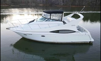Happy Ours 37 Foot Carver Luxury Yacht on Lake Lanier