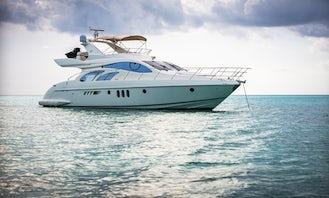 Beautiful 58' Azimut Power Mega Yacht Rental in Playa del Carmen