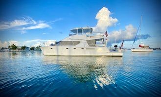 Relax on a 50' Power Cat in the beautiful waters around Marathon, FL