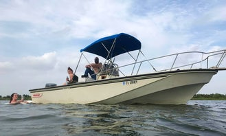 22ft outrage whaler in Seabrook ready to fish or pull a tube