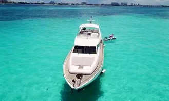 Mega Yacht in Cancun!  74' Ferretti Flybridge  up to 17 guests!