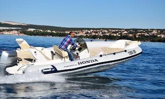 8 People Marlin 20 Inflatable Boat in Trogir!