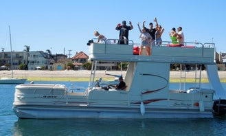 Double Decker Pontoon with Slide and Free Water Toys and Bathroom on Board!!