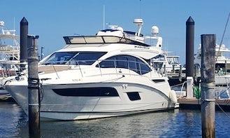 2019 Sea Ray Flybridge 45' Motor Yacht Charter for 12 People in Sea Bright, NJ