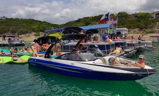 Rent 8 Person Malibu Sunsetter Wake/Ski Boat with watersports equipment included on Lake Austin!