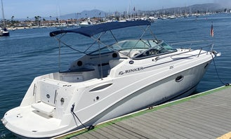 Rent the 29' Rinker Cruiser in Newport Beach, California. Captain & fuel included