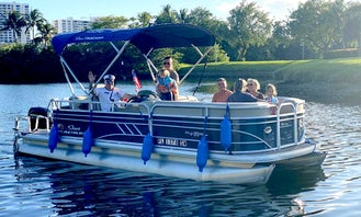 2021 Luxury Pontoon Party Boat for Rent in Hollywood, Florida