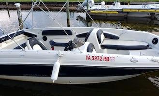Starcraft Stepstar 22ft Deck Boat Boat Rental On Lake Winnebago In Fond du Lac, WI