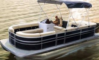 25ft Luxury Pontoon Rental in Grapevine, Texas