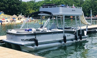 New PARTY BOAT w/ WATER SLIDE, 2020 Avalon Tri-Toon, GAS is FREE!