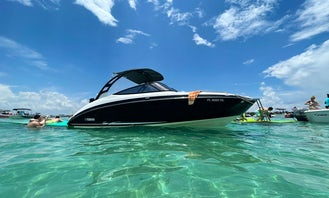 Miami Yamaha 242 Luxury Jetboat Rental with Upgraded Stereo System
