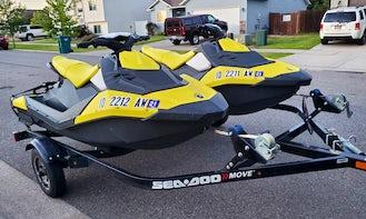 Two SeaDoo JetSkis in Post Falls, CDA