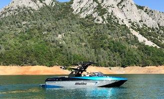 Malibu WakeSetter 23 LSV Powerboat Adventures on 7 northern Calif. lakes!!