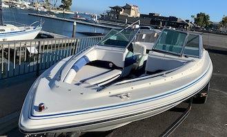 Newport Beach Open Bow 18OB 135 Hp SeaRay Powerboat with Plenty of Room and Full Bimini Top