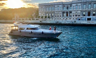 12 People Motor Yacht Charter for your private events in İstanbul