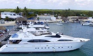 Azimut 101' Mega Yacht with Jacuzzi and Jet Ski with pickup in Riviera Maya