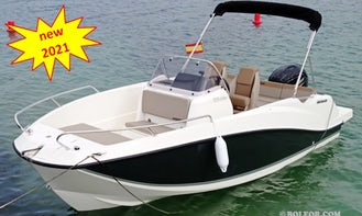 Rent this Speedboat Q555 'Astreo' 115hp for 6 people in Palma, Spain
