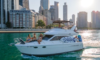 Multi Level Luxury Yacht Rental in Chicago, up to 12 guests. All water toys are included!