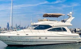 50' Luxury Yacht w/Flybridge and Sundeck Rental in Chicago, Illinois