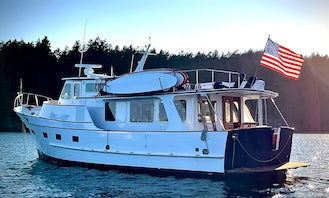54' Power Yacht for overnight excursions on Puget Sound!