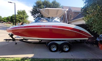 Yamaha SX240 Powerboat with Water Toys for Rent on Lake Ray Hubbard