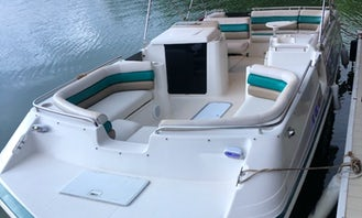 1997 Hurricane 24' Deck boat for rent on Lake Norman