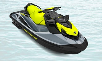 New 2021 Seadoo GTI Jet Ski with Bluetooth Speaker and Front Storage in Long Beach