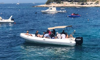 Rent 28' Joker Clubman 300hp Rigid Inflatable Boat in Hvar Town